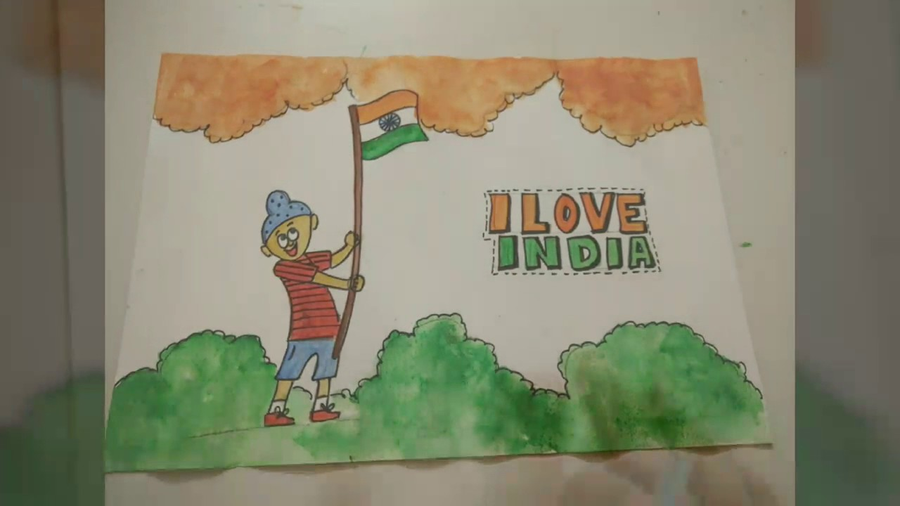 1280x720 Indian Flag Patriotic Drawing Idea For Kids How To Craftlas