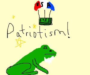 300x250 Bearded Frog Earns Cash From Us Patriotism