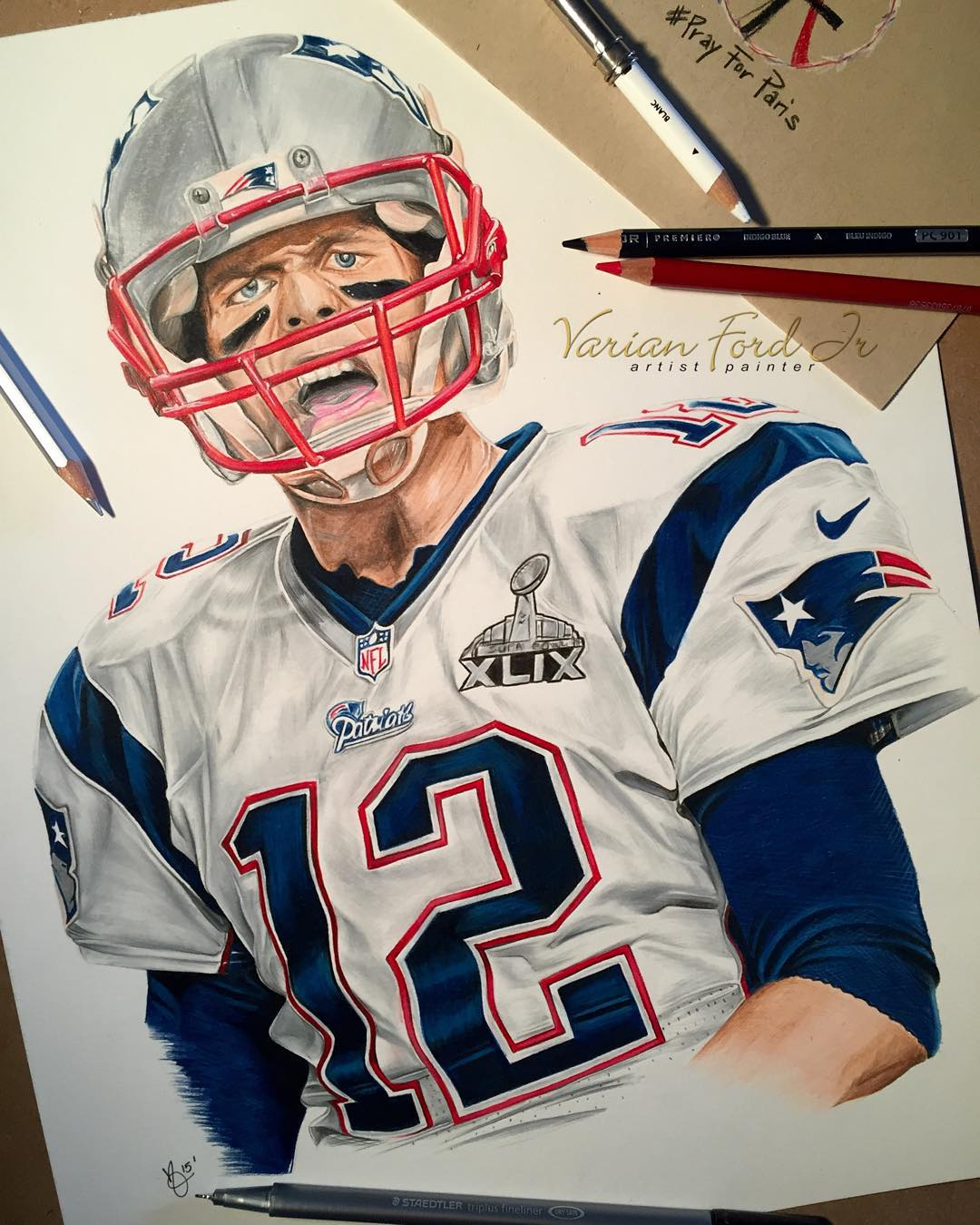 1080x1350 All Done! Pencil Drawing Of Tom Brady. Tag The @patriots