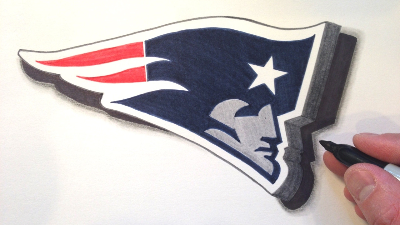 1280x720 How To Draw The Patriots Logo In 3d