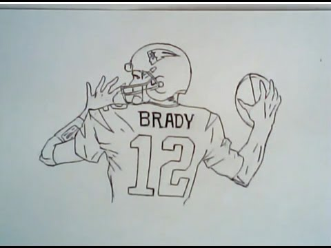 480x360 How To Draw Tom Brady In Super Bowl 49 (Patriots Drawing)