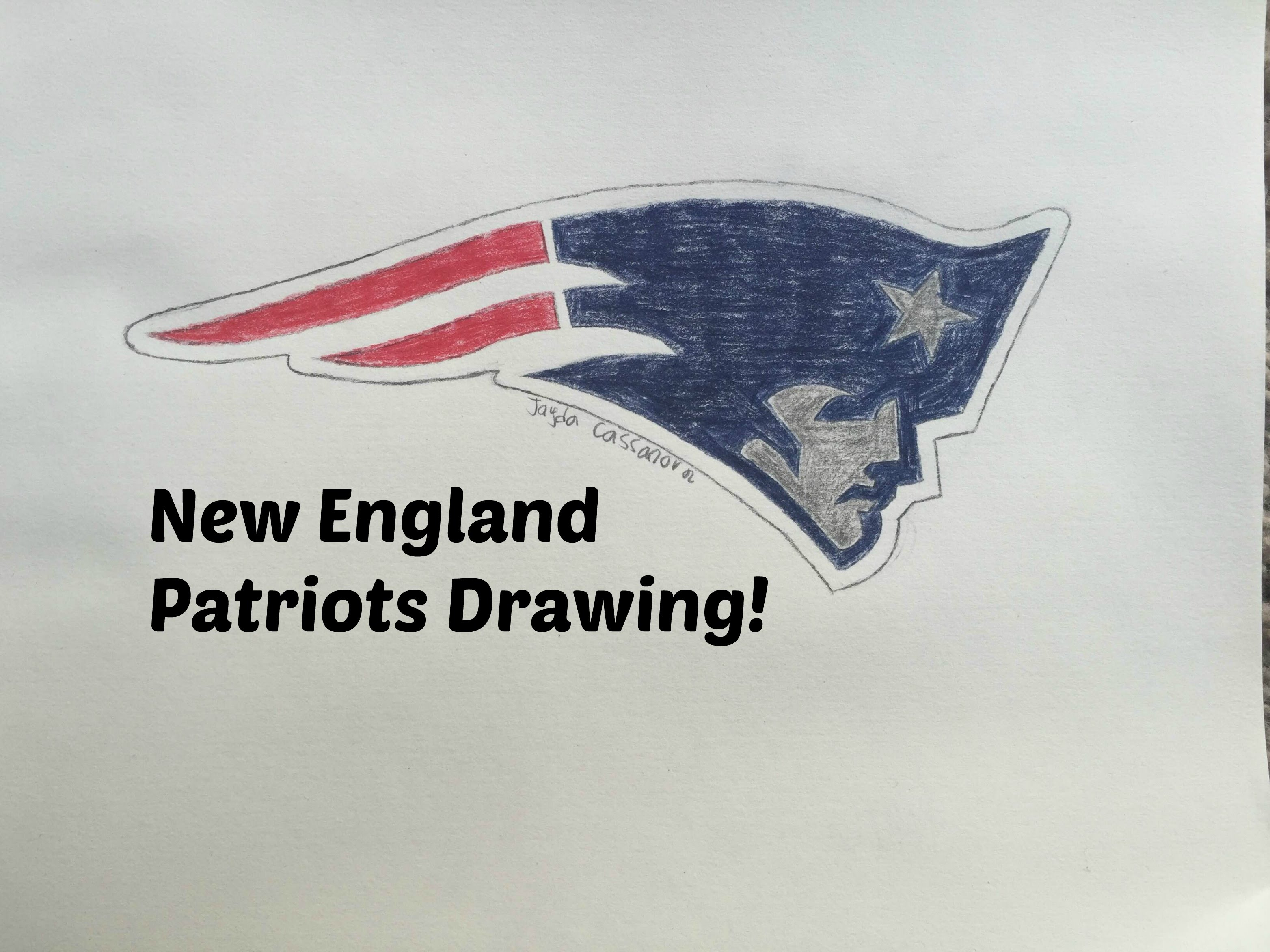 3128x2346 New England Patriots Logo Drawing (Time Lapse)