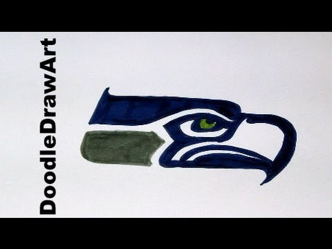 480x360 Drawing How To Draw The Seattle Seahawks Logo