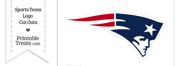 610x229 Large New England Patriots Logo Cut Out Printable