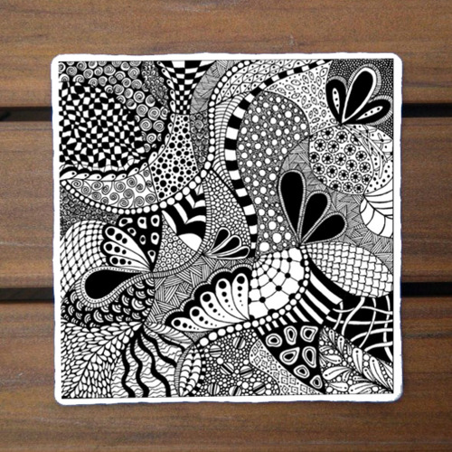 500x500 Zentangle Patterns For Beginners The Captured Fig, Zentangle