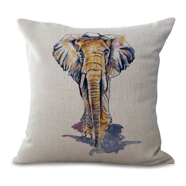 640x640 Elephant Coloured Drawing Or Pattern Cotton Embrace Case Window