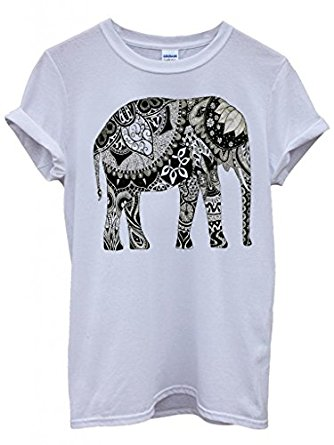 334x445 Elephant Drawing Ethnic Pattern Art Funny Hipster Swag White Men