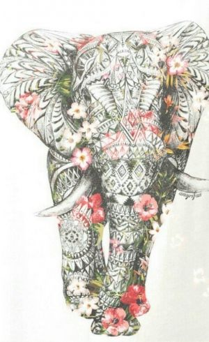 300x490 Elephant Ethnic Pattern Inked Ethnic Patterns
