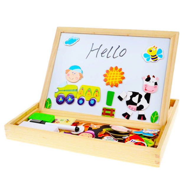 640x640 Bohs Multifunctional Drawing Board With Magnetic Puzzle Multi
