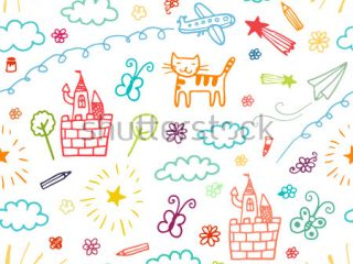 320x240 Color Patterns For Kids Kids Drawing Stock Images Royalty Free
