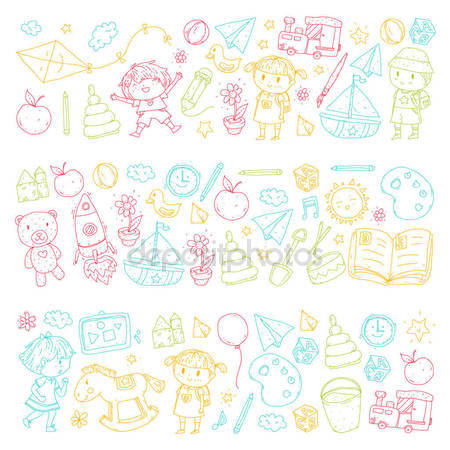 450x450 Vector Set Patterns Cute Dinos Design Elements Delicate Collection
