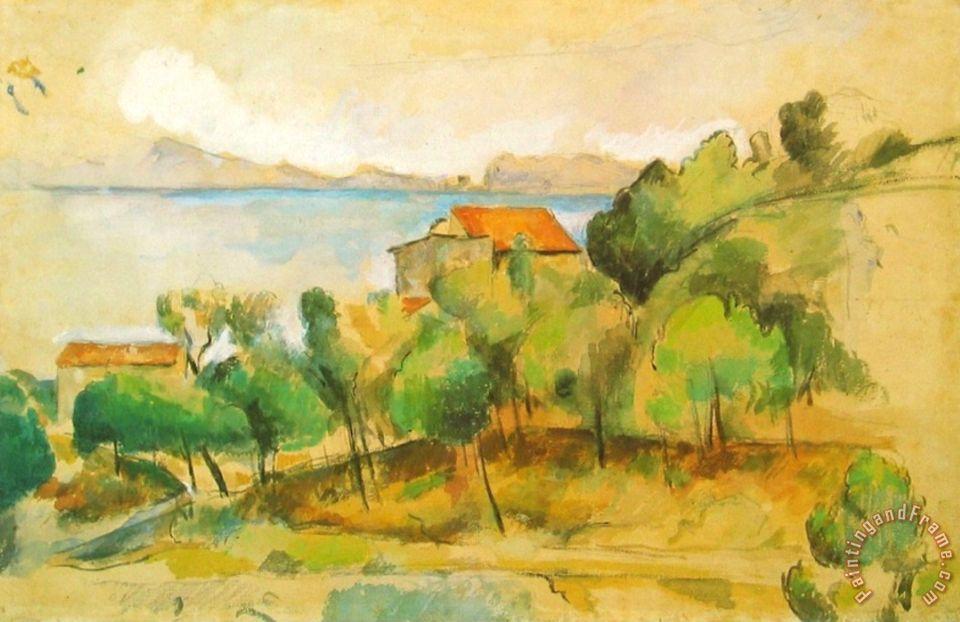 960x622 Paul Cezanne Landscape On The Mediterranean Painting
