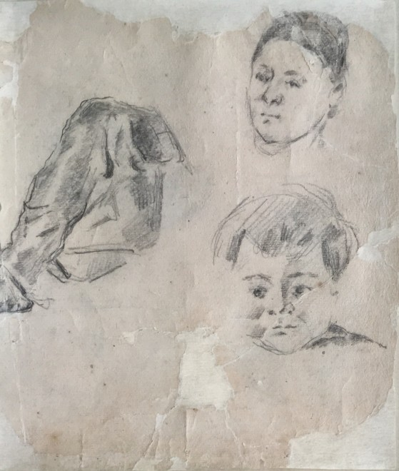 559x660 Paul Study Of Madame Cezanne And The Artist's Son Paul