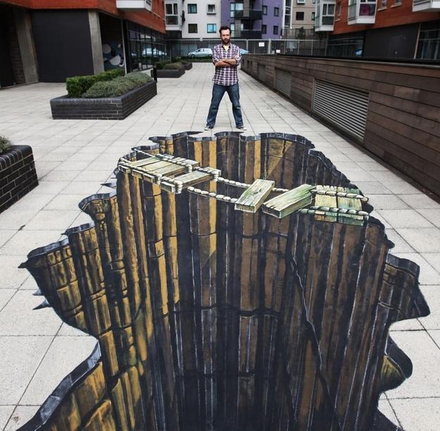 625x613 33 Brain Melting Works Of 3 D Sidewalk Chalk Art