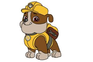 Coloring Pages Paw Patrol Rubble : Paw patrol drawing at getdrawings free for personal use paw