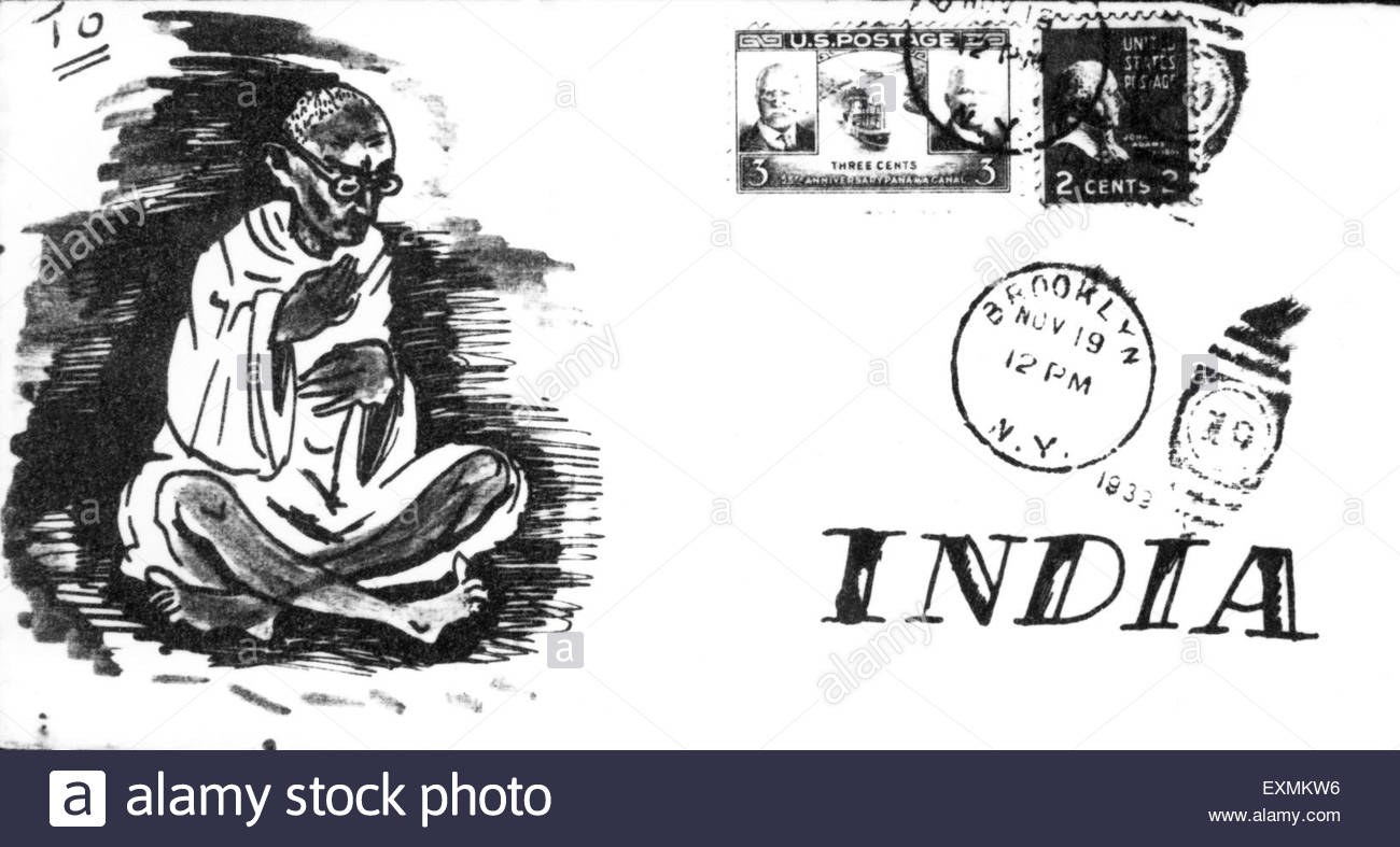 1300x787 An Envelope Sent To Mahatma Gandhi From Usa Showing A Drawing