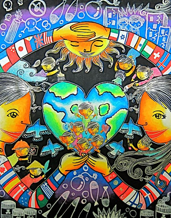 600x765 Art For Peace Contest A World With Unity And Love, A World