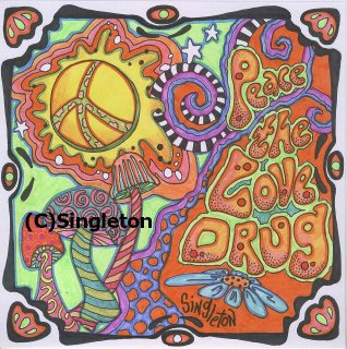 318x320 Peace, The Love Drug Drawing Airdrumming In A Space So