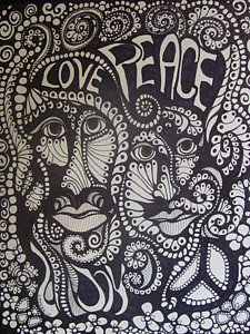225x300 Peace And Love Drawings Fine Art America