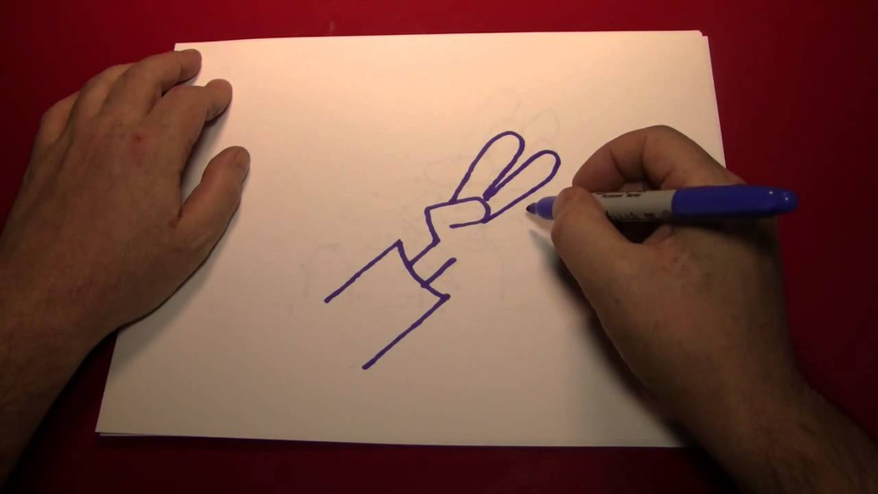 1280x720 Doodling (Drawing A Cartoon Hand Making A Peace Sign)