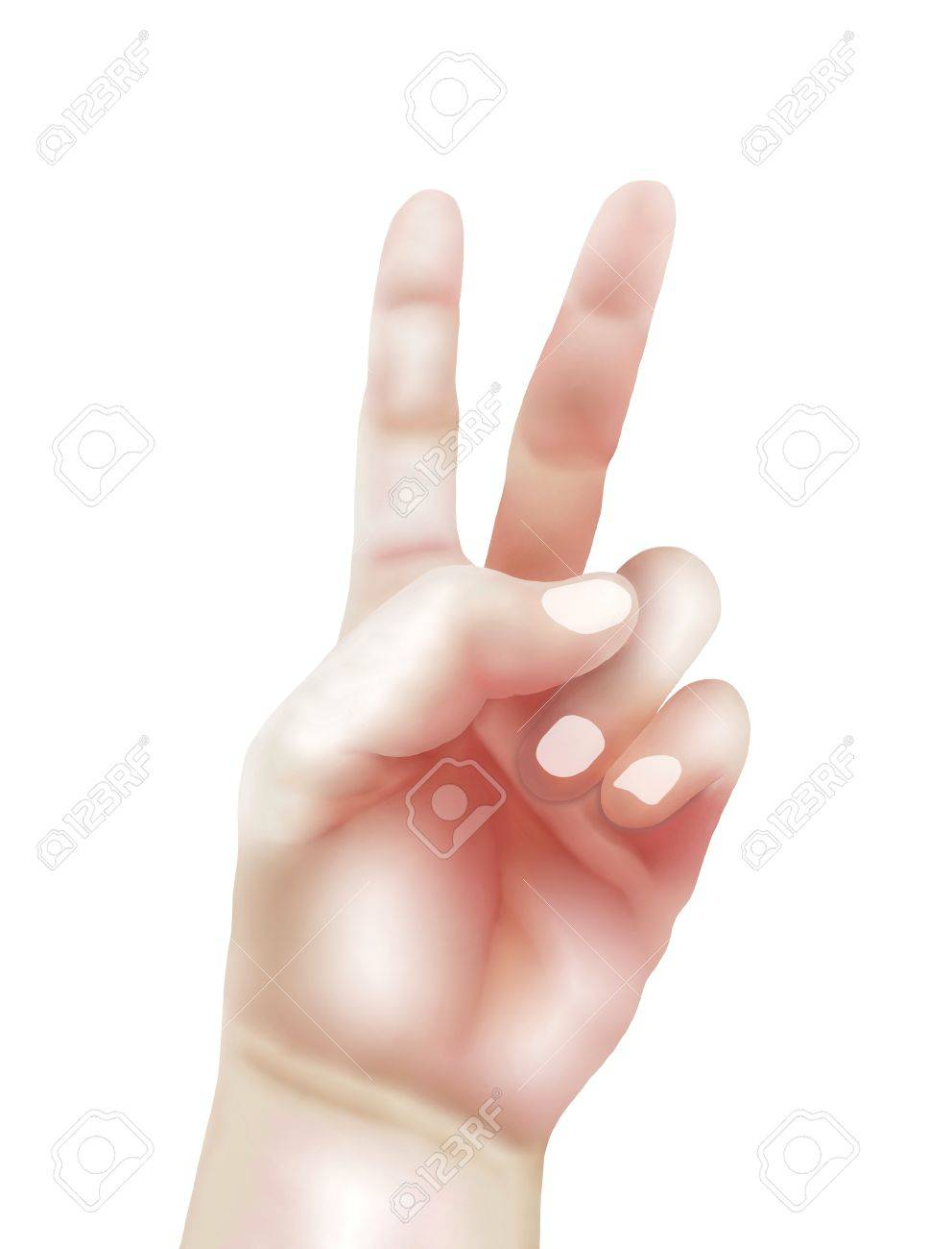 992x1300 Hand Drawing Of Person Showing Hand Sign Up In The Air For Present
