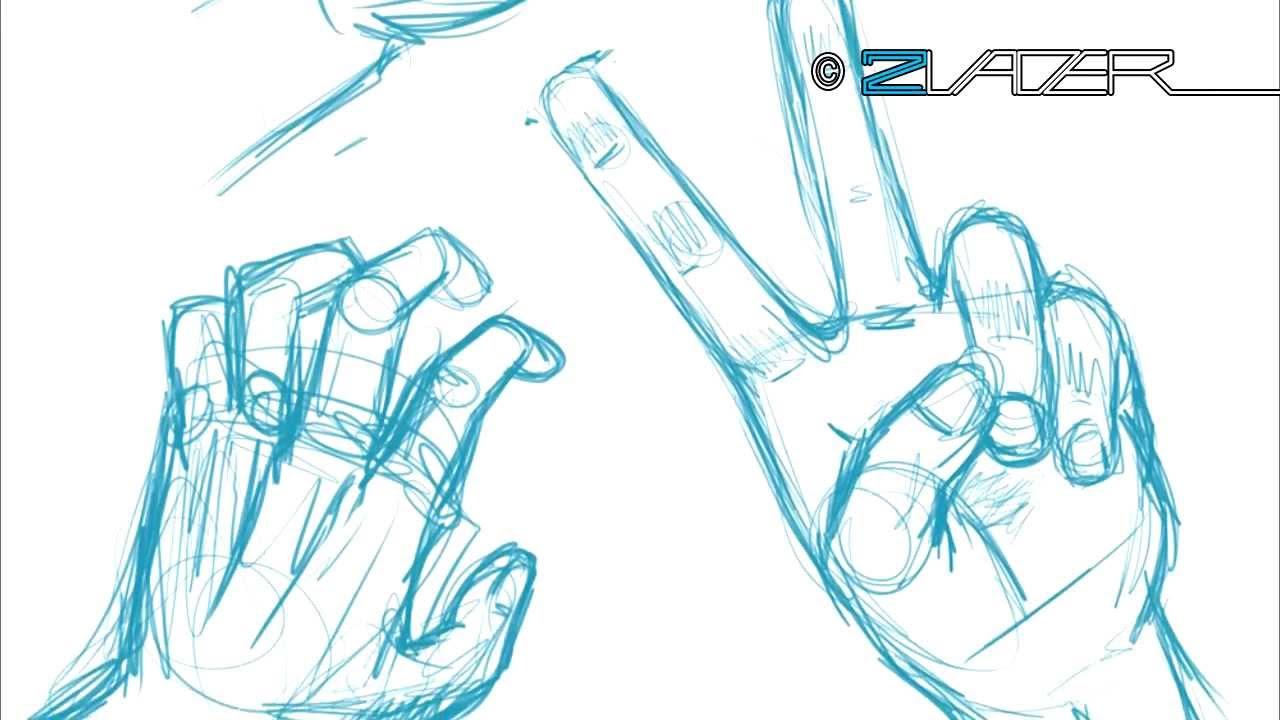 1280x720 How To Draw Peace Hand How 2 Draw Manga Tutorial