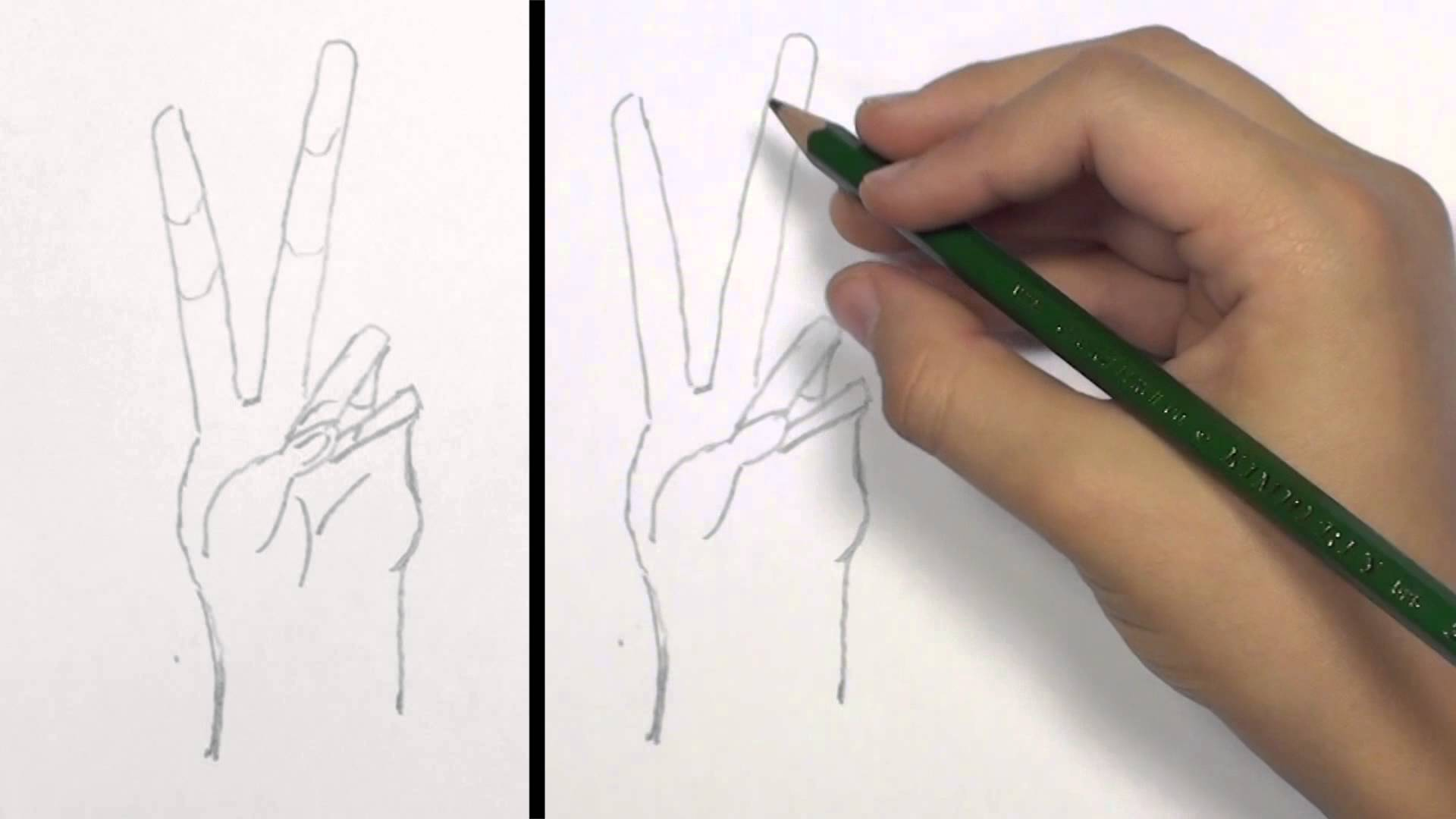 1920x1080 How To Draw A Peace Hand Sign Kidvid Tat