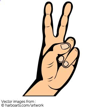335x355 Download Hand Sign For Peace
