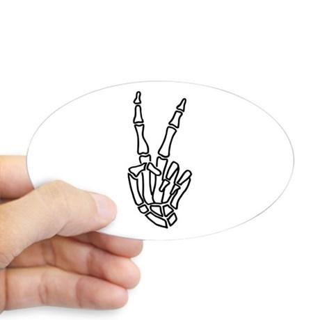460x460 Peace Hand Bumper Stickers Cafepress