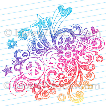 450x450 Hand Drawn Sketchy Peace Sign Doodle Drawing Vector Illustration