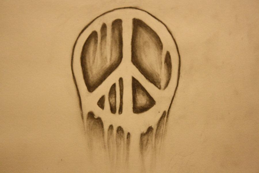 900x601 My Peace Sign Tattoo By Tripl685704