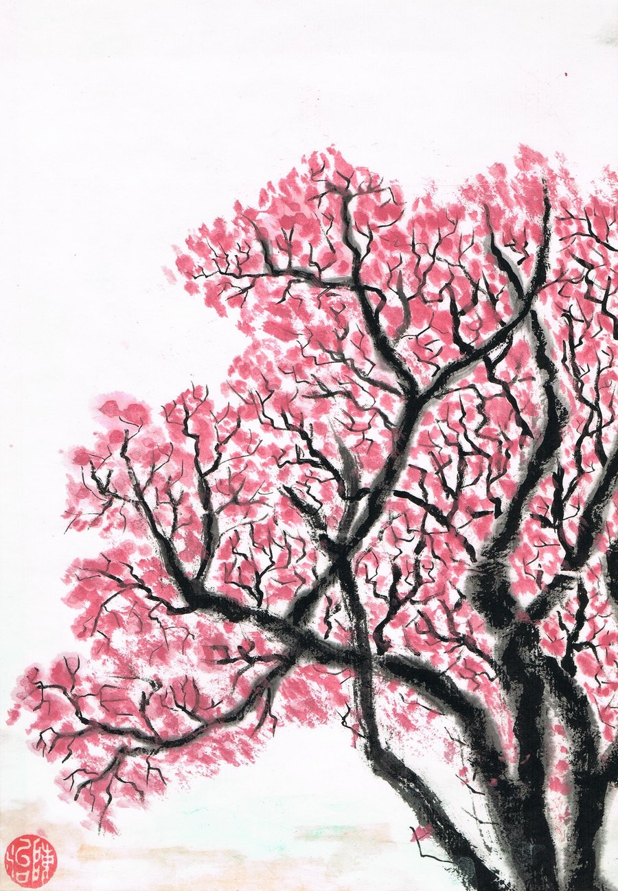 Blossom Tree Drawing: Peach Blossom Drawing At GetDrawings.com