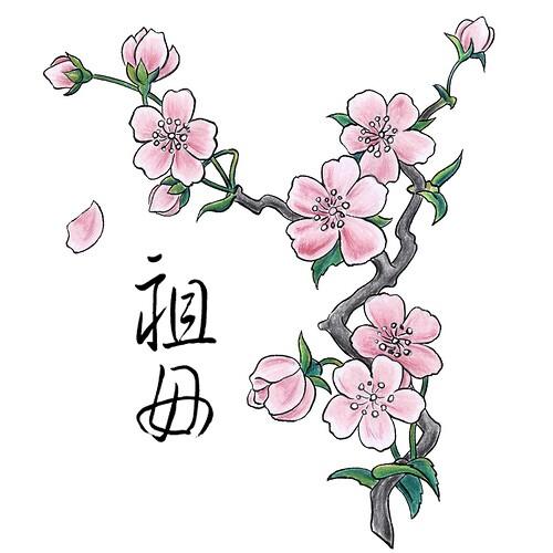 500x500 Peach Blossom Tattoo Inspiration Tattoos Tattoo