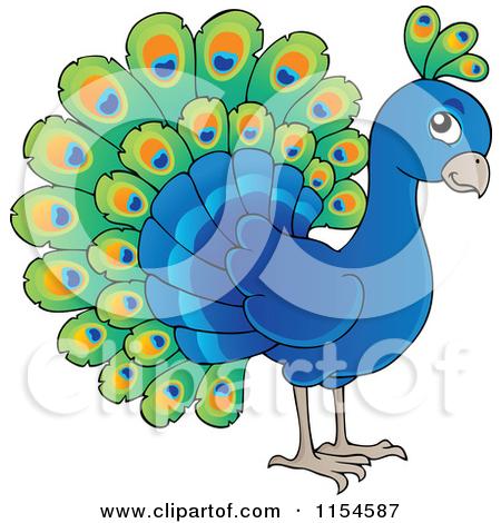 450x470 Cartoon Of A Cute Peacock