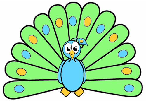 500x345 How To Draw Cartoon Peacocks Step By Step Drawing Tutorial