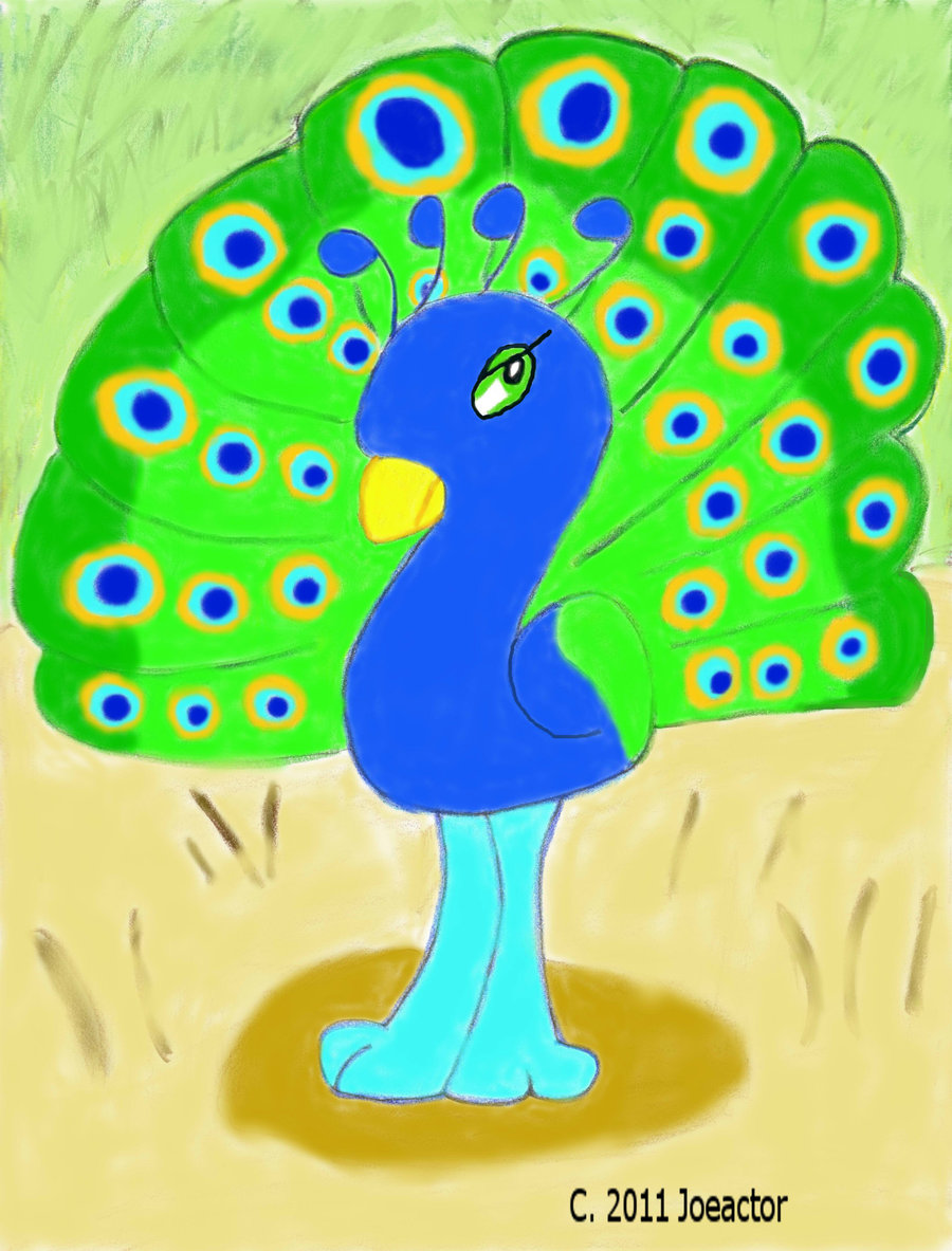 900x1183 Peacock Cartoon Drawing