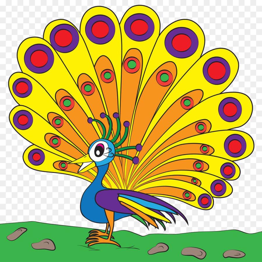 900x900 Peafowl Cartoon Drawing Clip Art