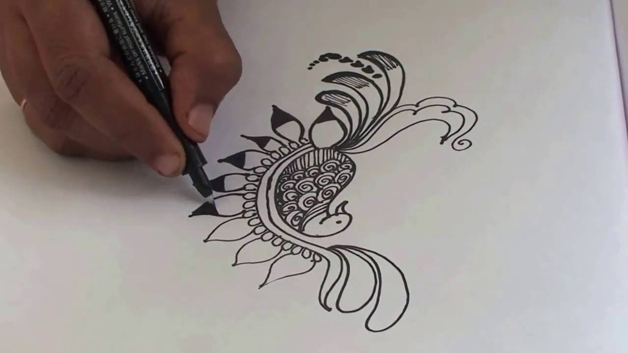 Mehndi Peacock Tattoos : Peacock drawing designs at getdrawings free for personal use