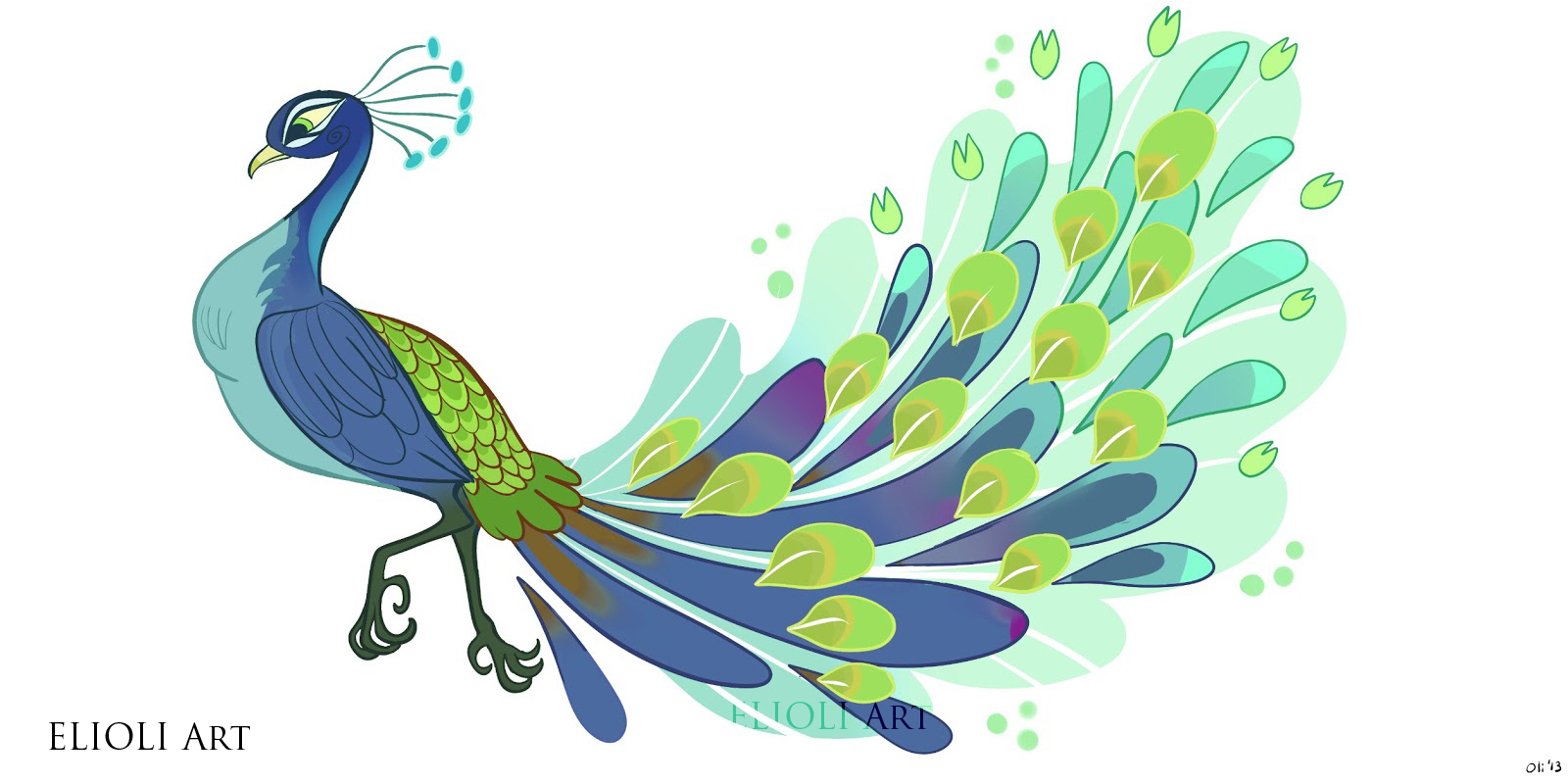 1600x800 Simple Colorful Drawing Simple Colorful Peacock Drawing Free