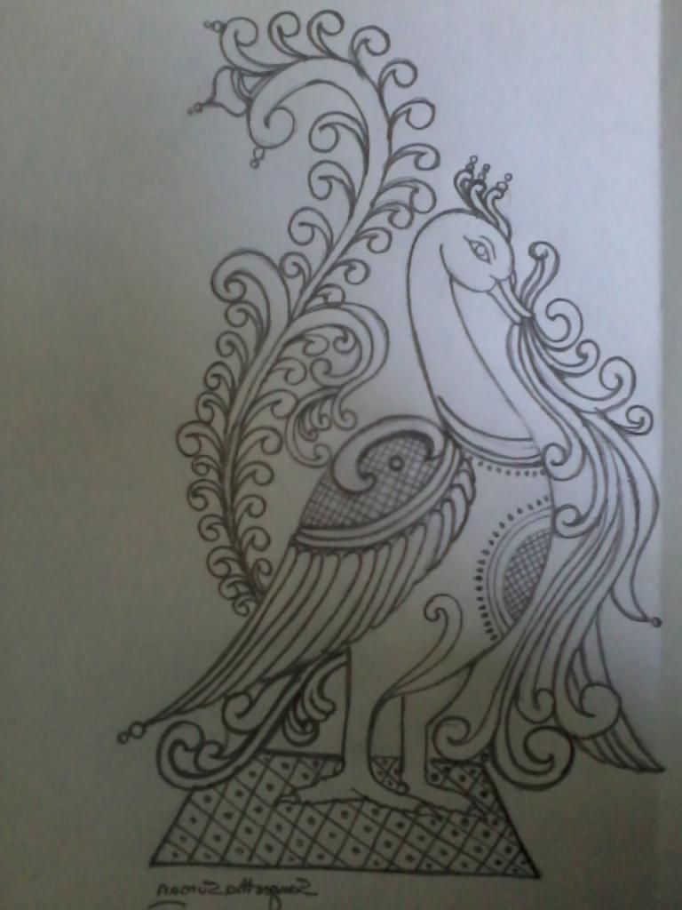 768x1024 Pencil Sketch Peacock Hd Easy Picture Of Peacock Of Pencil Sketch