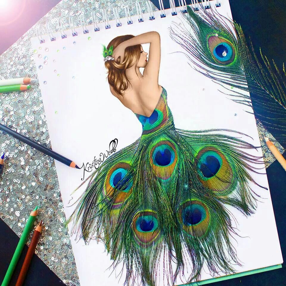 peacock drawing with colour at getdrawings com free for personal