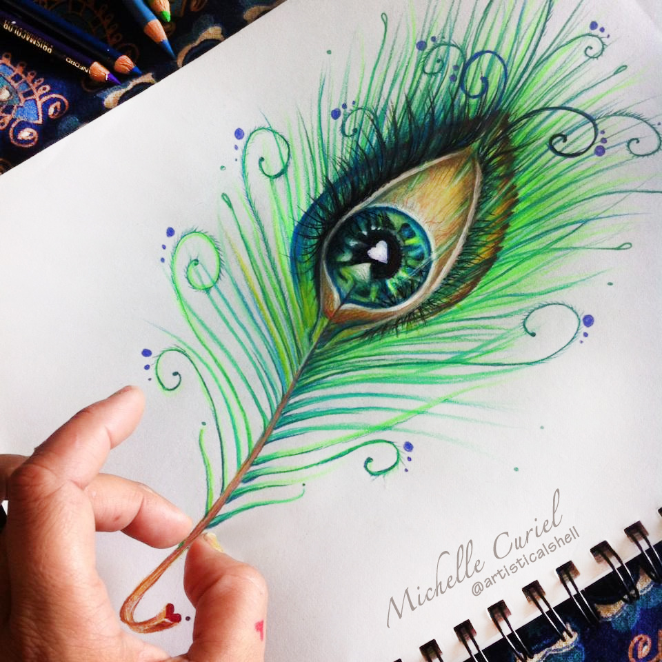 960x960 Peacock Eye Drawing By Artisticalshell