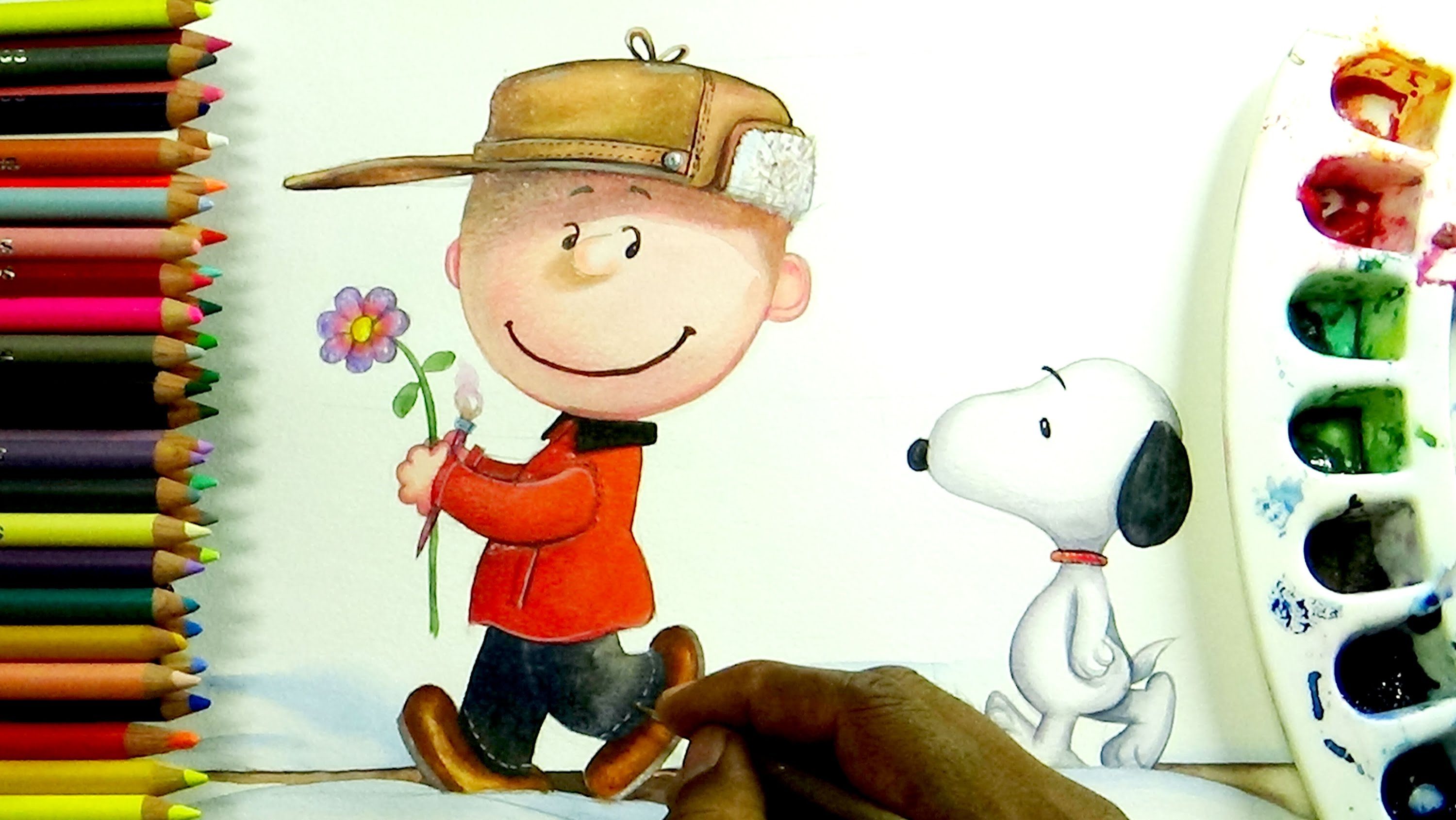 3000x1690 How To Draw The Peanuts Charlie Brown And Snoopy
