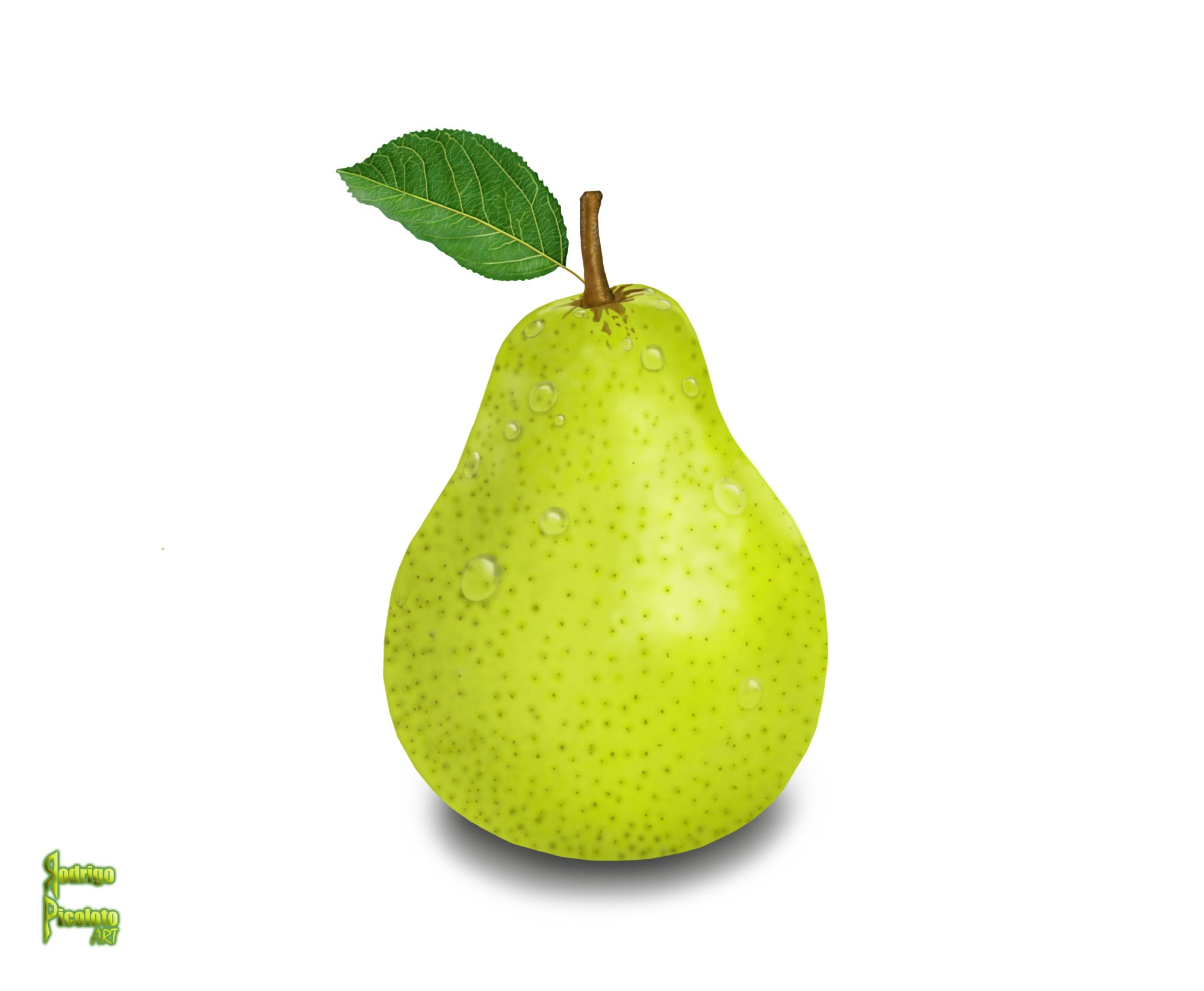 2000x1647 Drawing A Pear In Photoshop