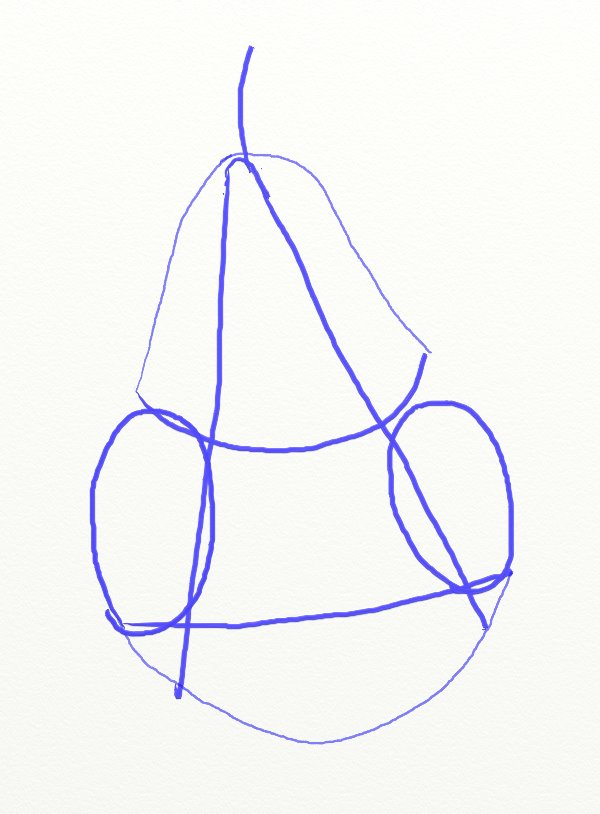 600x814 How To Draw A Pear