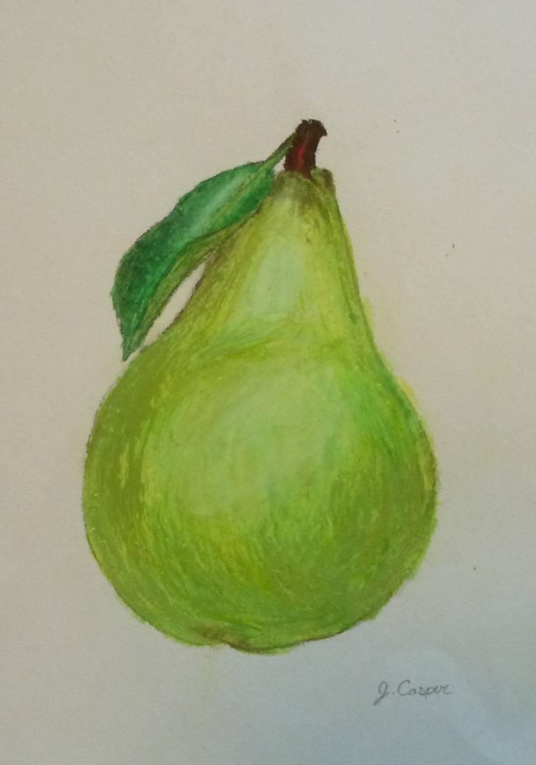 770x1099 Saatchi Art Green Pear Drawing By Jessica Casper