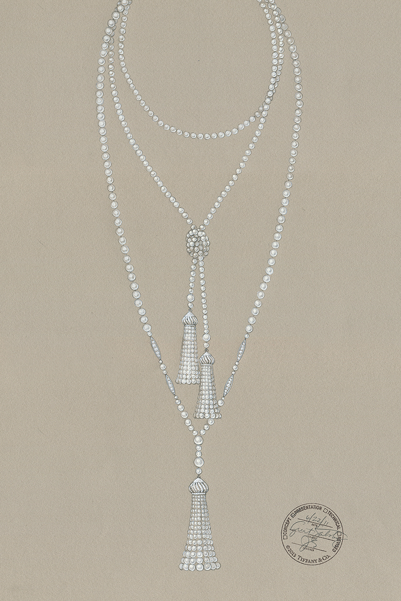 Pearl Necklace Drawing At Getdrawings Com Free For