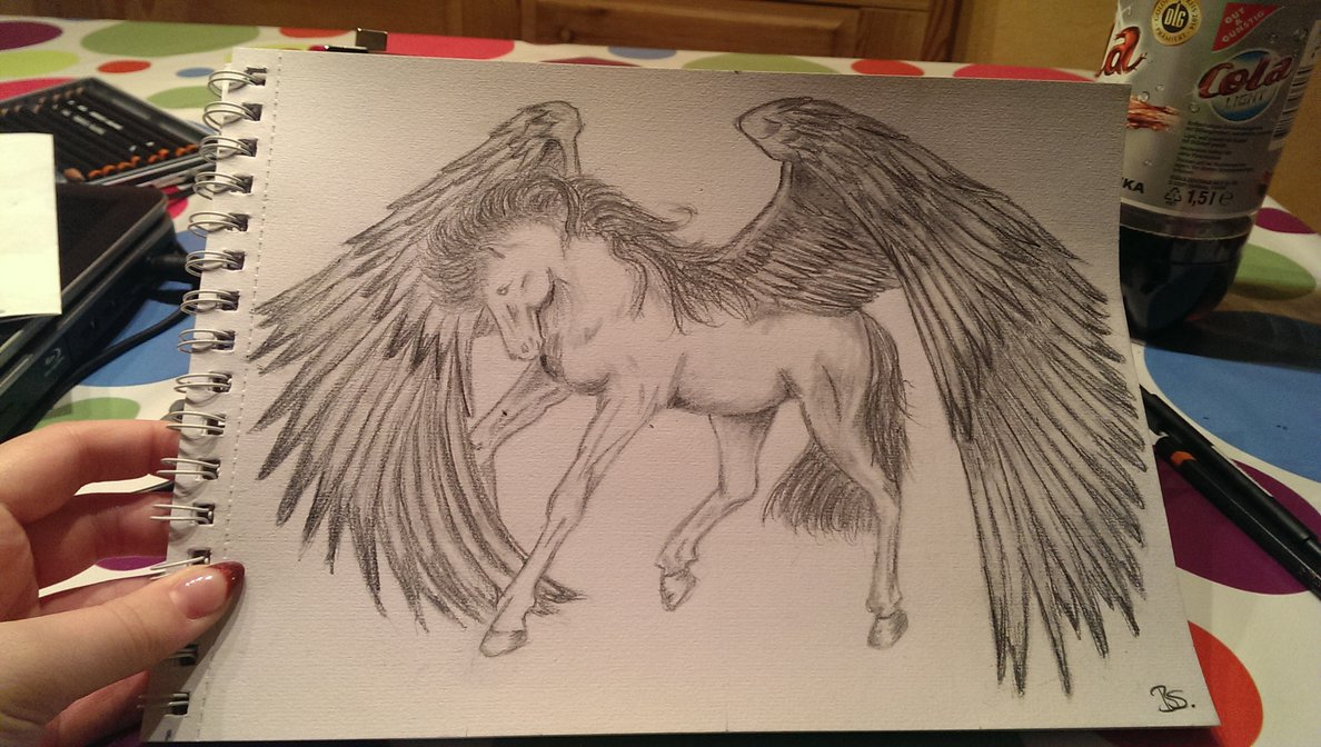 1188x672 Pegasus Pencil Drawing By Madpolarbear97