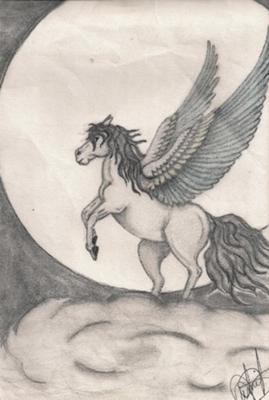 269x400 Pegasus And A Full Moon