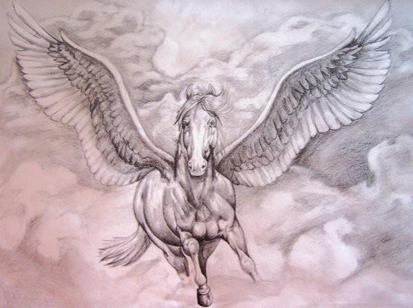 600x448 Famous Pegasus Tattoo Designs
